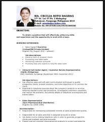 Resume Sample For Fresh Graduate Teachers Menu And Resume