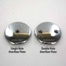 single hole overflow plates