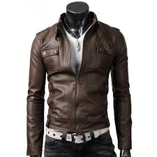 strap pocket light brown jacket slim ed mens biker leather