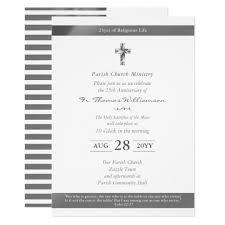 Ordination Invitation Template Priest Ordination Anniversary Invitations Silver