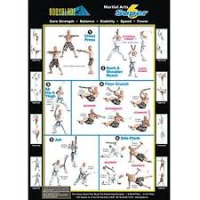 Bodyblade Exercise Chart Martial Arts Super 6 Wall Chart
