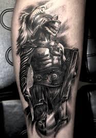 Grey Ink Gladiator Tattoo Tattoomagz Tattoo Designs Ink