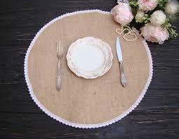 round burlap placemat circular wedding centerpiece overlays table mat rustic
