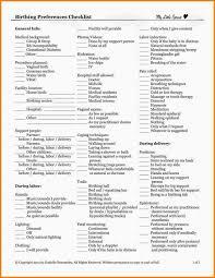 Birth Plan Check List Natural Birth Plan Template Shatterlion Info