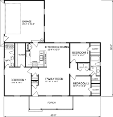 traditional style house plan 3 beds 2 baths 1400 sq ft