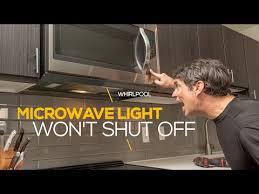 microwave range hood light won t turn