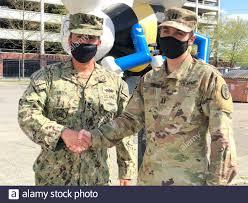 U.S. Army Captain Brian Smith congratulates older brother CE1 (SCW ...