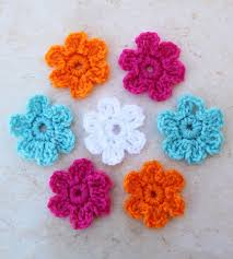 Crochet Flowers Patterns Simple CrochetADay 48 Crochet Flower Patterns Make And Takes