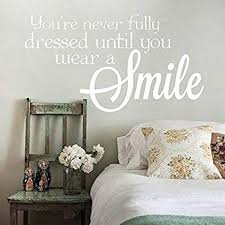 Bedroom Wall Quotes Best Amazon Enid48Anne Inspirational Wall Quotes Smile Quote Decal