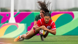 olivia de couvreur of canada scores against mexico during their rugby sevens friday pan american in peru christopher morris coc