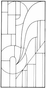 Art Deco Stained Glass Pattern Students