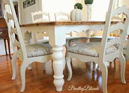 Chalk Paint Dining Room Table Bentleyblonde Diy Farmhouse Table Dining Set Makeover With