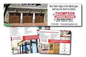 thompson garage doors reno garage doors garage doors outdoor brochure overhead doors decorating styles