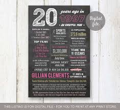 ideas for 20th birthday present 20th birthday gift idea personalized 20th birthday gift for sister template