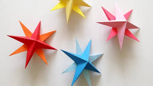Paper Decorations Christmas Diy Hanging Paper 3d Star Tutorial For Christmas Birthday Party