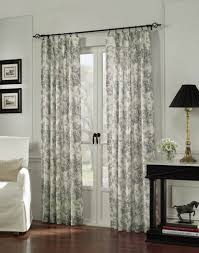 Image of: Pattern Sliding Door Curtains