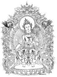 Coloring Bouddha Asian Statue 塗り絵 と 像