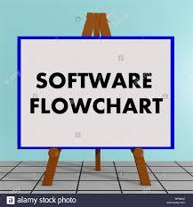 Flow Chart Title 3d Illustration Of Software Flowchart Title On A Tripod