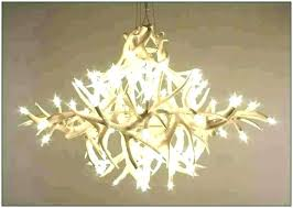 white antler chandelier faux post real whitetail deer