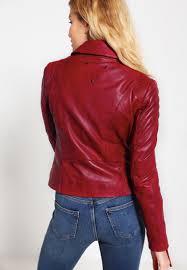 be edgy cara leather jacket dark red women leather jackets edgy jacket