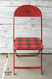 Thrift Shop Vintage Child's Metal Folding Chair Christmas Upcycle | Metal  folding chairs, Reupholster chair diy, Folding chair makeover