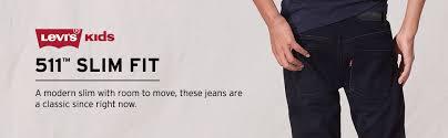 Levis 511 Size Chart Boys 4 20 Levis 511 Slim Fit Jeans In Regular Husky