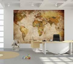 World Map Home Decor World Map Photo Wallpaper Mural Vintage Retro Motif Xxl World Map