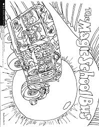 It's wonderful that, through the process of drawing and coloring, the learning about things around us does not only become joyful. The Magic School Bus Coloring Pages