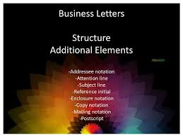 Ppt Business Letters Structure Heading Date Inside Address