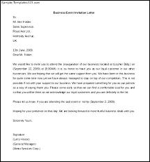 Business Invitation Sample Business Invitation Letter Template
