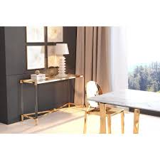 gold console table. ZUO Existential Gold Console Table