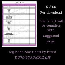 Chicken Sizes Chart Leg Band Poultry Breed Size Chart Download Lolli N Pops