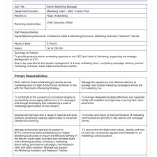 Marketing Job Descriptions Resume Template