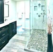rock shower river rock showers shower floor for tile