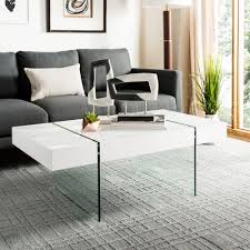 safavieh jacob white coffee table