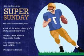Football Invitations For Tailgates Superbowls Birthdays And More