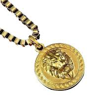 fashion chain hiphop lion head pendant necklace for men women jewelry iced out gold