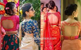 South Indian Blouse Neck Design Blouse Neck Designs Fashion Trends South India Fashion