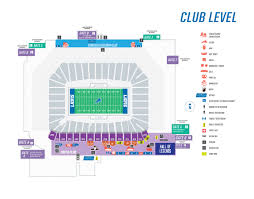 Detroit Lions Seating Chart With Seat Numbers Ford Field