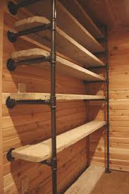 wood closet shelving. Brilliant Shelving Pipes And Reclaimed Wood Turned Into Closet Shelves In Wood Closet Shelving I