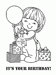 It Is Your Birthday Coloring Page