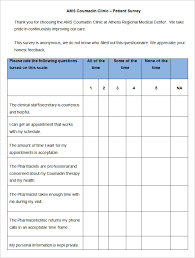 Patient Satisfaction Survey Template - 9 Free Word, PDF Documents ...