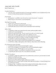 My Birth Plan Template Cesarean Birth Plan Template Edunova Co