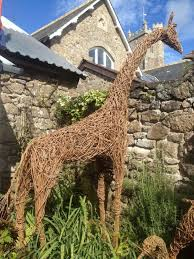 willow garden or yard outside and outdoor sculpture by sculptor katherine miles led