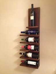 ... Mesmerizing Kitchen And Dining Room Decoration Using Simple Wine Rack :  Incredible 6 Tier Mounted Wall ...
