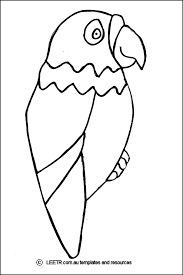 M8cA98MTa bird cut out template coloring home on parrot outline template