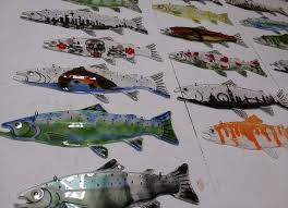 drop in fusing work for the glass fused fish bring your own design idea