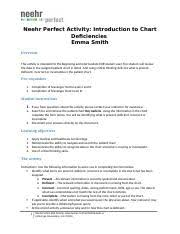 Neehr Perfect Ehr Introduction To Chart Deficiencies