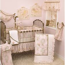 Pink Crib Bedding Set Lollipops and Roses 8 piece Set Free