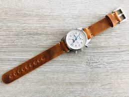 leather watch strap leather watch band handmade watch band 18 mm 20 mm 22mm 24mm cinnamon brown color